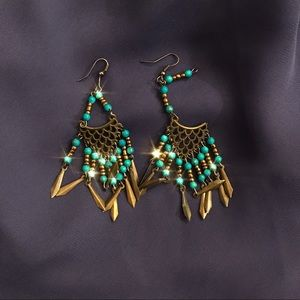traditional handmade vintage elegant earrings